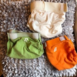 3 Small G Diapers/G Pants with Liners